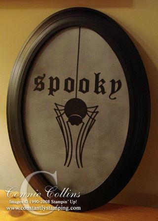SpookySpiderOvalFrame