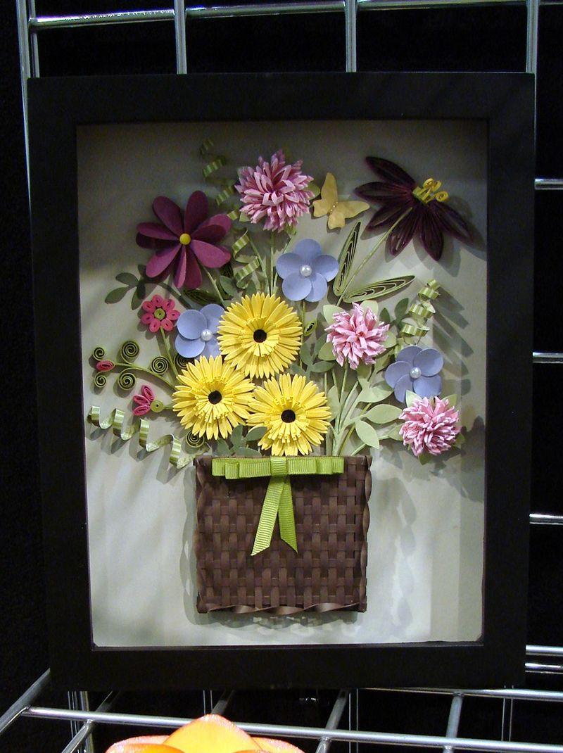 Framed Basket of Flowers