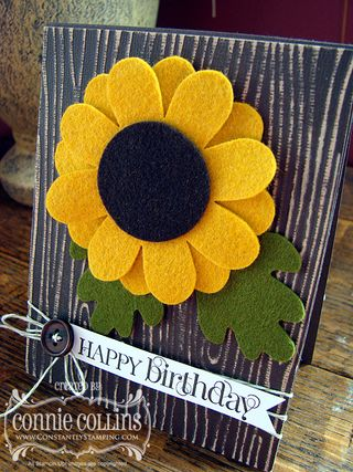 Felt Sunflower 3