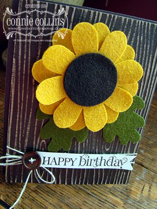 Felt Sunflower 2