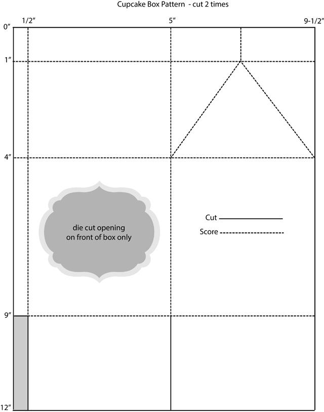 Cupcake box pattern
