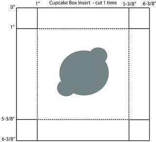 Cupcake box pattern insert